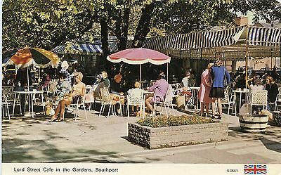 Postcard Lord Street Cafe in the Gardens Southport