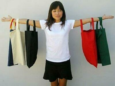 MARKET | Plain Calico Shopping Bags in Black, Natural
