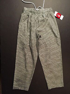 Black And White Checkered Chef Pants - Size Large - New With Tags