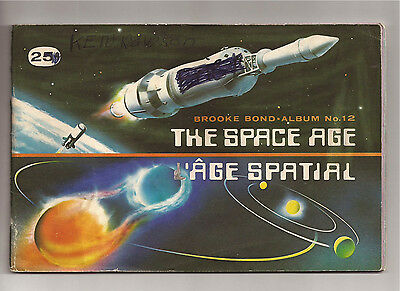 Brooke Bond Album No. 12 THE SPACE AGE Red Rose Canada  45/48 cards