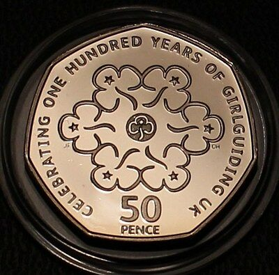 --- 2010 Royal Mint Girl Guides Proof Fifty Pence 50p Coin ---