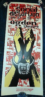 Rare 2002 Social Distortion Promo Poster Ogden Theater L. Kuhn Lost City Angels