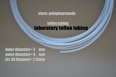 teflon lab tubing ptfe ID 2mm OD 4mm per 10meter For 3D Printer new unused