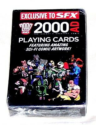 2000AD PLAYING CARDS - BRAND NEW, SEALED - exclusive to SFX - Judge Dredd etc.