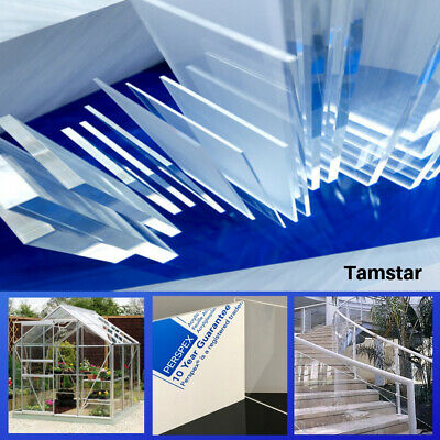 Clear Perspex Sheet Plexiglas Plastic Acrylic Panel Greenhouse Glazing Shed 3mm