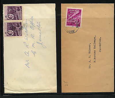 North  Borneo  264, 265  on  2 covers  local  use           KEL 0424