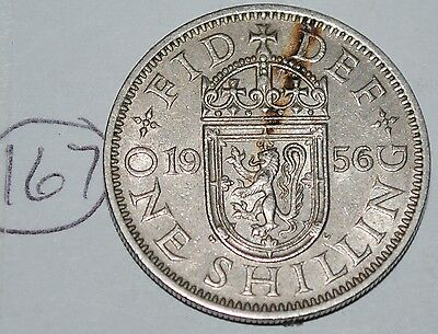 1956 Great Britain Shilling UK Coin KM# 904 Lot #167
