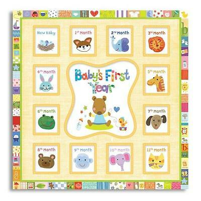 Baby Record Books New Seasons Unisex Baby's First Year Baby Memory Book 75137-MK