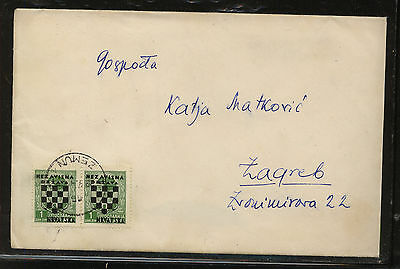 Croatia  #11  pair  on   cover       AT0706