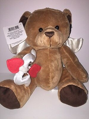 Applause Brown Teddy Bear Valentines Day Cupid Plush