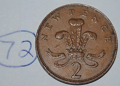 1971 Great Britain 2 New Pence UK Coin KM# 916 Lot #72