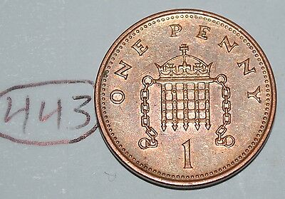 2001 Great Britain 1 Penny UK Coin KM# 986 Lot #443