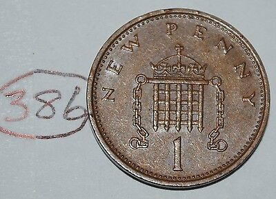 1980 Great Britain 1 New Penny UK Coin KM# 915 Lot #386
