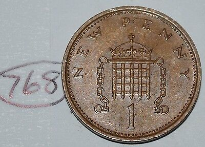 1975 Great Britain 1 New Penny UK Coin KM# 915 Lot #768