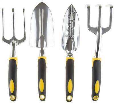 4-Pc Garden Tool Set with Comfort Grip Handles in Green and Tan [ID 3490424]