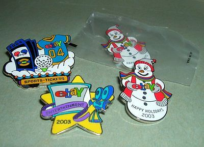 lot of four 2003-2004 eBay collector pins swag