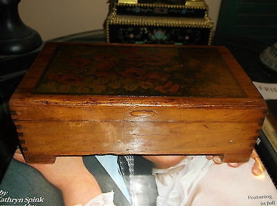 Antique Early 1900's Collectible Wood Trinket Box