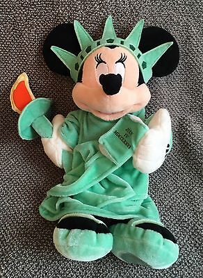 """Disney Store Exclusive Minnie Mouse Statue of Liberty Mickey Plush Doll 18"""""""