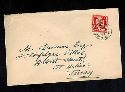 1941 Occupied Jersey Channel Island cover to ST Heliers M Laurens