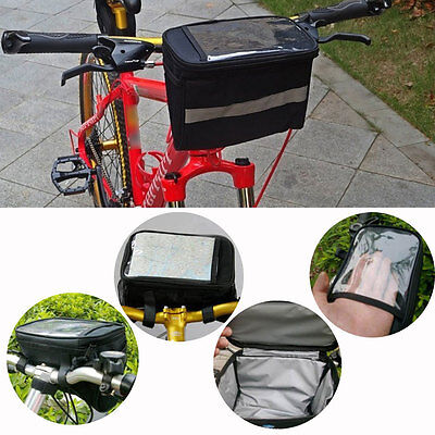 Cycling Handlebar Bag Pouch Frame Tube Outdoor Front Basket Bicycle Pannier