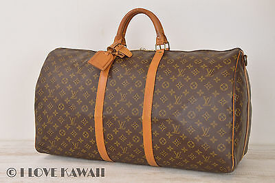Louis Vuitton Monogram Keepall 60 Bandouliere Travel Bag M41412 - C04846
