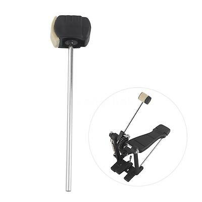High-quality Bass Drum Pedal Beater Wool Felt Stainless Steel Handle Parts E9Y9