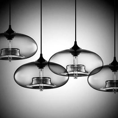 Glass Round Vintage Pendant Lights Industrial Antique Ceiling Lamp Hanging Retro