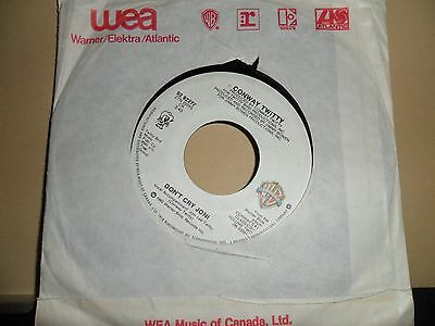 """Conway Twitty.don't Cry Joni.canadian.7"""" Vinyl.45Rpm"""