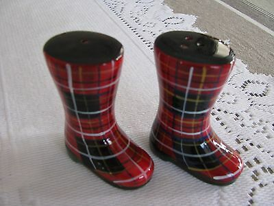 Scottish Boots Salt and Pepper Shakers