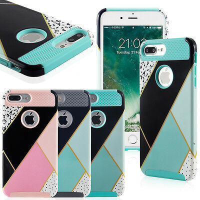 Hybrid Rugged Rubber Protective Hard Cover Case Shell for iPhone 7 7 Plus / 6S 6