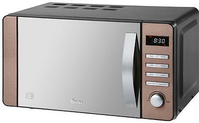Swan - SM22090COPN - 800w Digital Microwave In Copper With 20l Capacity