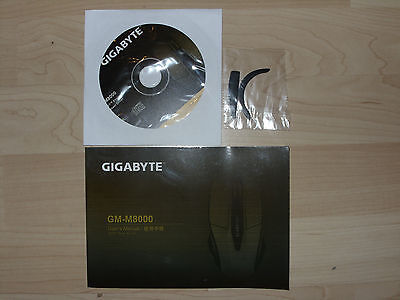 GIGABYTE GM-M8000 Mouse User's Manual with driver, Maus Handbuch mit Treiber CD