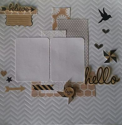 Handmade Scrapbook Page Pre-Made Scrapbooking Layout - All Occasions/Male/Female