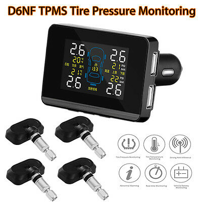 Auto D6NF Tyre Wheel Pressure Monitoring System+4 Internal Sensors LCD Monitor
