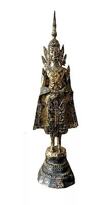 Rare Antique Thai Bronze Gold Gilded Rattanakosin Buddha, ca 18C- early 19C