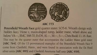 Petersfield Wreath Face Gold Quarter stater ABC773