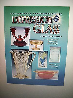 Depression Glass Price Guide Collector Book Full Size Hardback Color Pic 255Pg