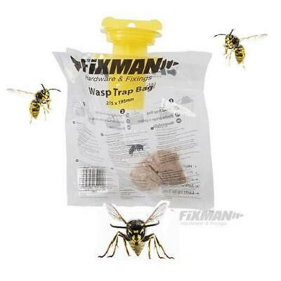 Wasp & Insect Fly Trap Baited Bag Catcher Killer (Bee Safe)