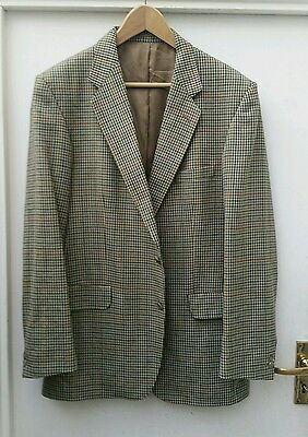 Magee Men's Pure New Wool Checked Sports Jacket Size 42 Regular, Style Olympic
