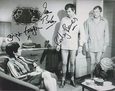 `The Likely Lads` - signed 8x10 by James Bolam, Rodney Bewes & Bridget Forsyth