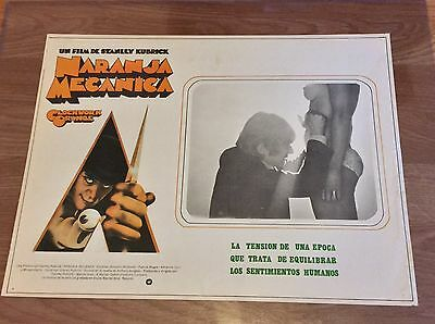 Vintage 1970s Clockwork Orange Spanish Movie Poster