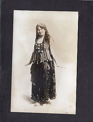 Unidentified actress in costume postcard
