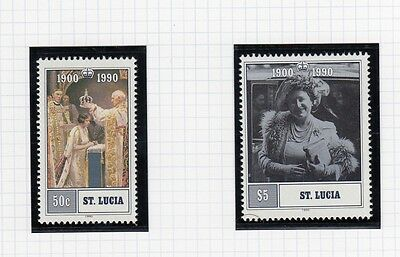 (74878) St Lucia MNH Queen Mother 90th Birthday 1990 unmounted mint