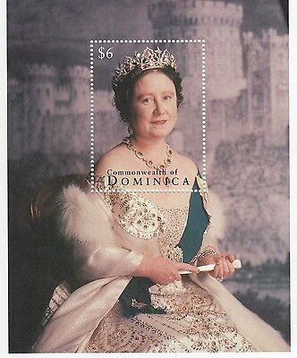 (96599) Dominica MNH Queen Mother minisheet unmounted mint