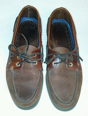 Sperry Top-Sider A/O, 2 Eye, Brown Men Boat Shoes 0195412 sz 12 S (Narrow)