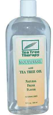 New Tea Tree Therapy Oil Mouthwash Alcohol Free Natural Fresh Flavor Daily Care