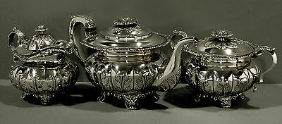 Chinese Export Silver Tea Set         KHECHEONG                 104 OUNCES