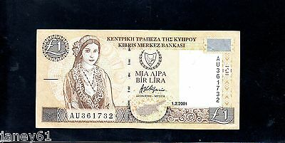 CYPRUS  One Pound £1 Banknote - 2001