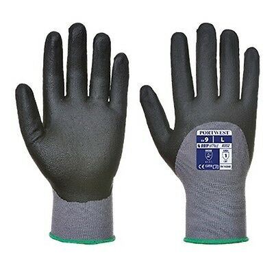 3 Pack - Portwest A352 Dermiflex Ultra Glove Large Gray/Black