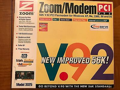 Zoom 3025 PCI 56k Modem with Caller-ID CLI